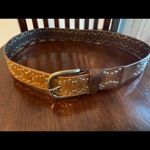 Linea Pelle Studded Leather Boho Women's Belt